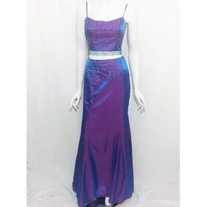Vintage Beaded Two Piece Dress